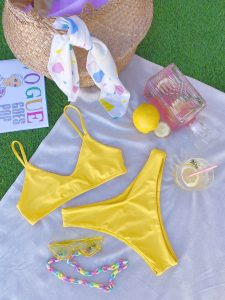 Bikini deportivo amarillo